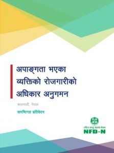 Cover Page of Holistic Report of Monitoring Employment Rights of PWD