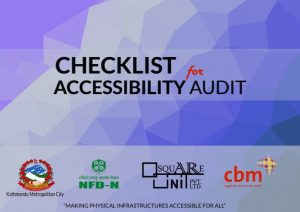 The book cover of checklist for accessibility audit