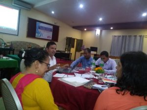 Group discussing on Disability Identity Card