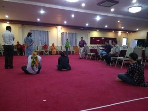 Participants and Facilitator are engaging on Game of Life for realization of real life understanding on disability