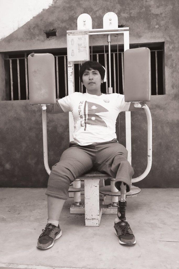 Nirmala Bhandari in Powerlifting Exercise