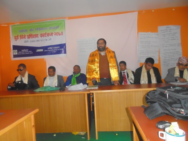two days training on local resource mobilization
