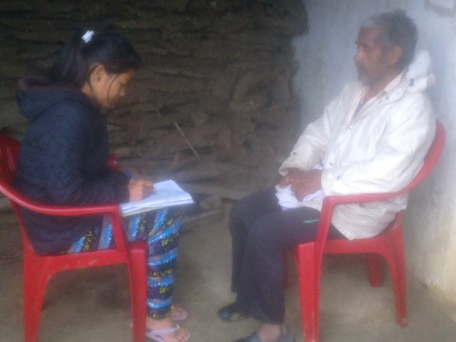 Data Collection of people with disabilities affected by earthquake