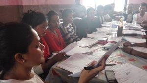 काभ्रे जिल्लामा भूकम्प प्रभावितहरूका लागी महासँघल गरिरहेका कार्यक्रमहरूबारे अभिमुखिकरण कार्यक्रम