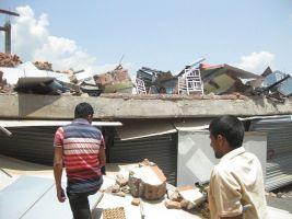 भुकम्प पश्चात सिन्धुपाल्चोक जिल्ला कार्य समितिको कार्यलयकको अनुगमन