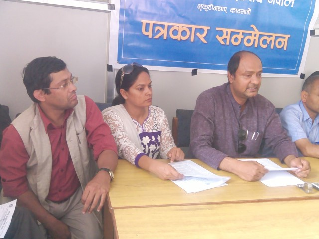 Press conference at NFDN for demanding political rights