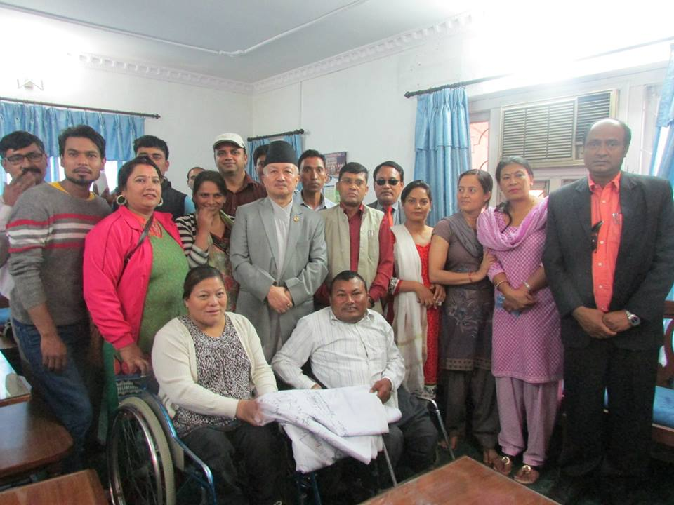 disability leaders with CA Chairman Subhash Nembang