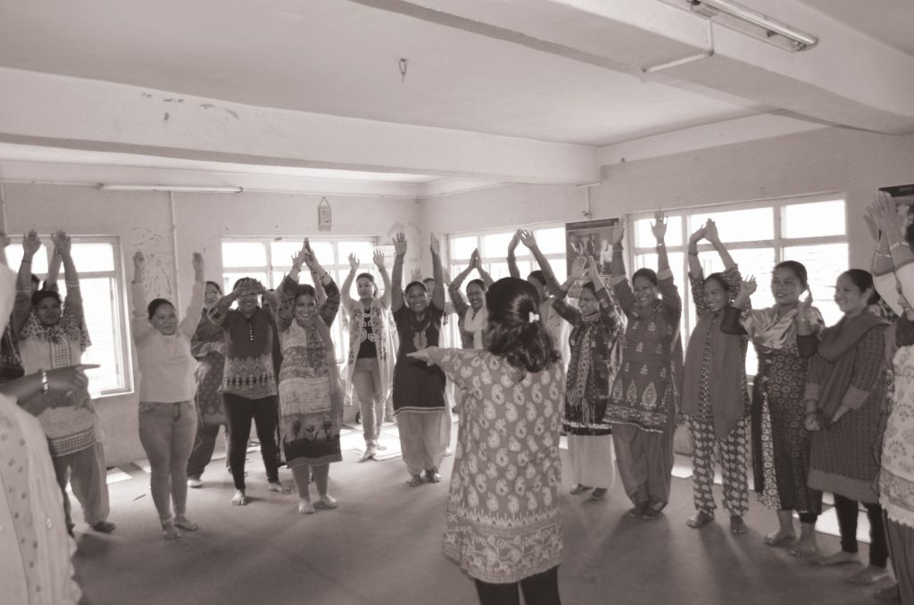 A physcial exercise activity during mental health workshop