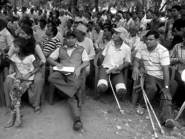 People with disabilities gathered for constitution feedback