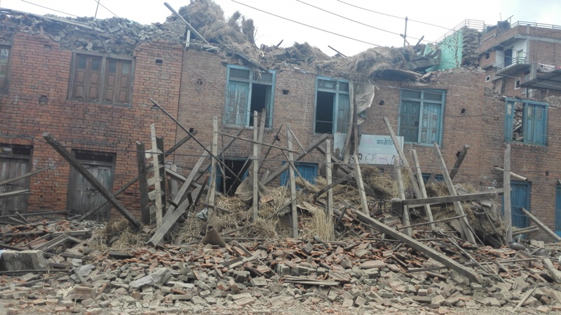 devastation caused by earthquake