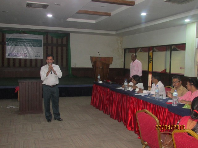 Mr. Raju Basnet of NFDN giving his welcome remarks