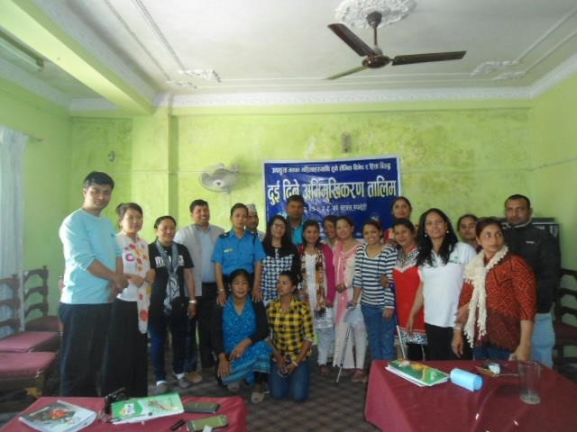 Group photo after the  program against gender voilence