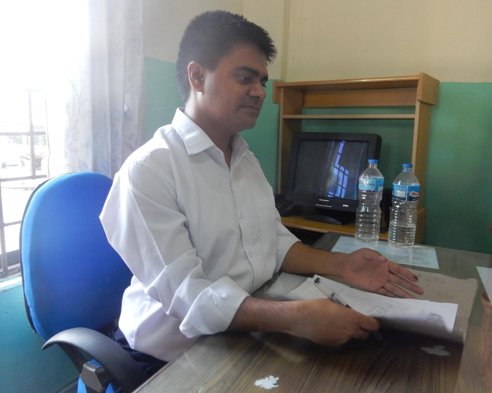 a person working in his office