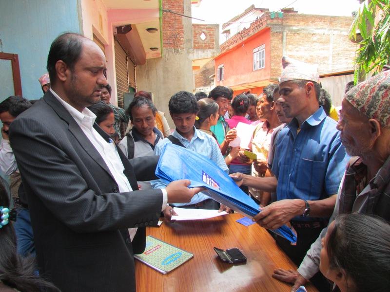 NFDN President Shudarson Subedi Distributing Releif