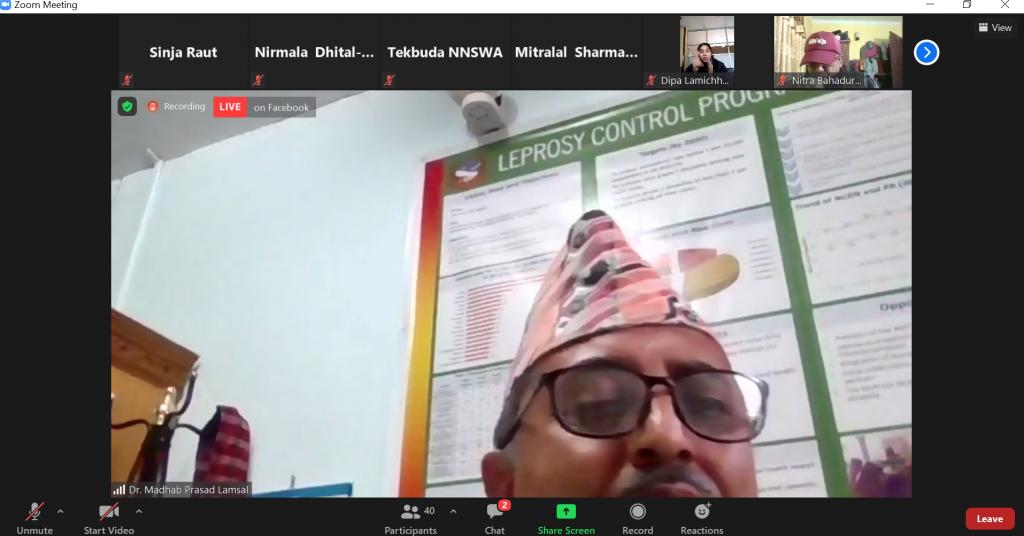 Dr Madhab talking about rehabilitation