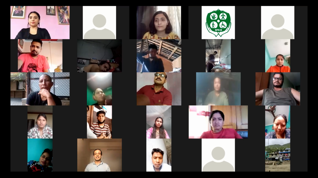 Screenshot of participants during the event, a gallery view,A virtual deliberation on mental and psychosocial health attended by 126 participants across the country