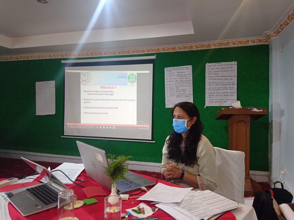 Program planning by Sita Arya, Project Coordinator